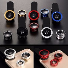 Original Wide-Angle Macro Fish eye 3 in 1 Phone Lens with Goldflower for homtom ht3 ht17 ht7 ht16 Pro cell phones Len Lentes