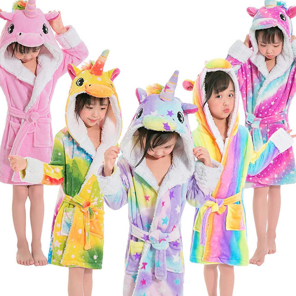 24f1fc8c52 Detail Feedback Questions about Baby Kids Homewear Bath Robes Animal Rainbow  Unicorn Kigurumi Hooded Sleepwear For Boys Girls Pajamas Nightgowns on ...