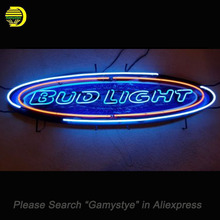 Neon Sign For Vintage Budweiser Bud Light Neon Bulb Glass Tube Handcrafted Pub Restaurant neon bar lights for sale custom made(China)