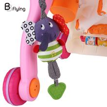 Music Elephant Rattle Infant Newborn Baby Pram Bells Soft Hanging Dolls Toys(China)