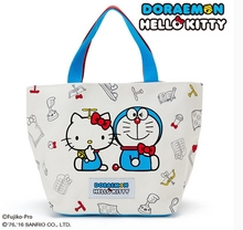 Hello  Kitty And  DORAEMON Cooperation Commemorative Edition Handbag ultra-large capacity Canvas material