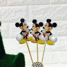 10PCS/LOT MICKEY MOUSE CAKE TOPPER CAKE PICK MICKEY MOUSE CAKE PICKER CAKE DECORATION PARTY SUPPLIES BIRTHDAY WEDDING DECORATION