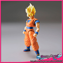 Original Bandai Tamashii Nations Figure-rise Standard Assembly Dragon Ball Toy Figure - Super Saiyan Son Goku Plastic Model