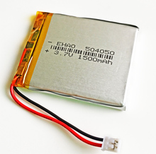 504050 JST 2.0mm 2pin 3.7V 1500mAh Lithium Polymer LiPo Rechargeable Battery For Mp3 DVD PAD mobile tablet pc power bank Camera
