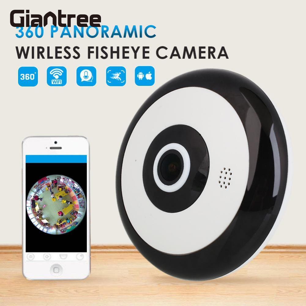 giantree 360 Degree Panoramic Fisheye Panorama Camera HD 1280*960 Wireless WIFI Cam Indoor Home Security Network IP Mini Camera<br>