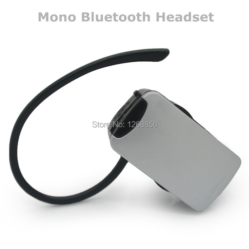 New Wireless with mic headset Mono Bluetooth earphone for smart phones 2 pcs/lot  Silver Free shipping<br><br>Aliexpress