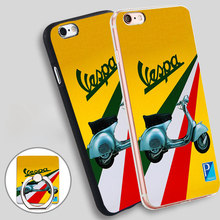 Vespa Vintage Phone Ring Holder Soft TPU Silicon Case Cover for iPhone 5 SE 5S 6 6S 7 Plus