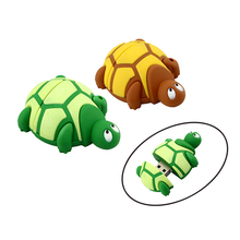 32GB! Wholesale USB Pen drive, PVC Plastic Cartoon Tortoise pendrive 4gb 8gb 16gb 32gb Turtle usb flash Memory Stick pen drive(China)