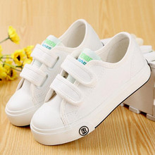 Children shoes girls kids canvas shoes baby 2017 Spring autumn white sneaker cotton-made baby single boys shoes kids shoes
