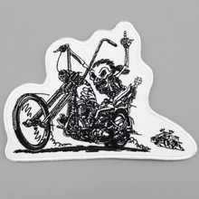 Wild Knight Patch Harley Rider Biker Vest New Jacket DIY Parts Loco Motive Embroidery In Applique Iron On Skulls Patches