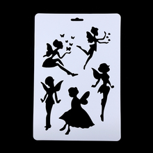 1Pc New Angel Layering Stencils For Walls Painting Scrapbooking Stamps Album Embossing Paper Cards DIY Craft(China)