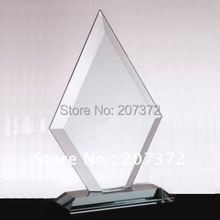 Free shipping size 200*120*50mm Jade glass award for decoration, glass business gifts, glass trophy(China)
