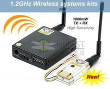 LawMate TM121800 1.2GHz 1000mW 8Ch Wireless Video Transmitter and Receiver Combo