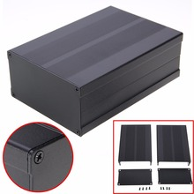 Black Aluminum Enclosure Case Electronic Project Circuit Board PCB Instrument Box 150x105x55mm(China)