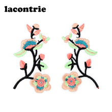 Buy Plum flowers patches clothing iron patches applique parches ropa diy embroidery patch fashion stickers clothes 1 pair for $2.45 in AliExpress store