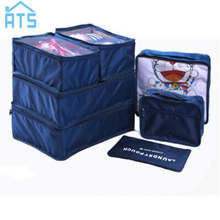 7Pcs/Set Travel Portable Tidy Suitcase Organizer Clothes Packing Container Makeup Clothing Shoes Storage Bag(China)