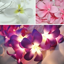 Cost-effective silk cloth flower creative DIY handmade battery lights led twinkle light Thailand wedding marriage room outside