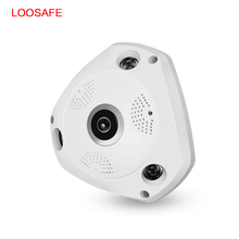 LOOSAFE Wifi CCTV Camera 3MP Wi-fi Security Camera 360 Degree Panorama Wireless CCTV Surveillance Camera Indoor Video IP Cam