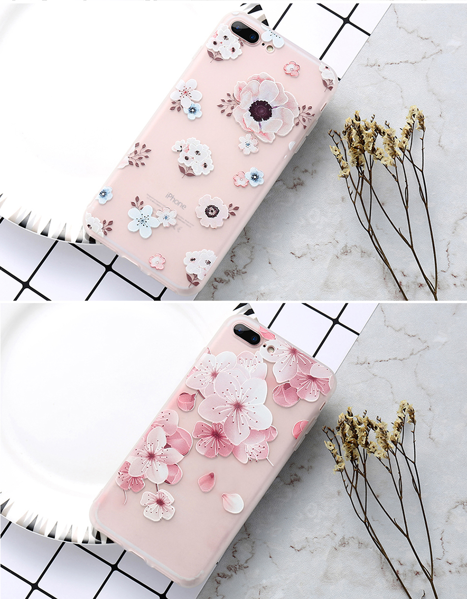 flower patterned case for iPhone 6 6s 7 Plus (11)