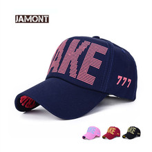 JAMONT 2017 Fashion Summer Sunscreen Couple Hat Stereo Embroidery Baseball Cap Men Women Casual Cotton Caps TAKE Snapback Hats(China)