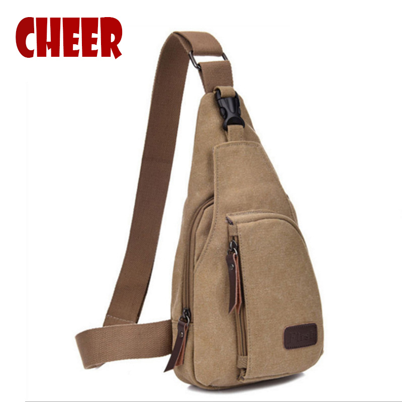 New fashion men's Canvas shoulder bags Chest bag Men Messenger Shoulder bag Casual Small Crossbody high quality shoulder bag(China)