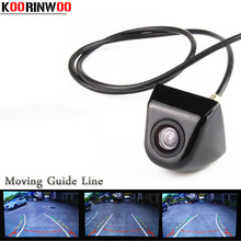 Koorinwoo Dynamic trajectory Moving Guide Line HD CCD Car Parking camera Car Rear view Camera Wide Angle Reversing Assistance(China)