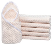 "6-pack 12""x12"" Microfiber Waffle Weave Washcloths Facial Cloth Dish Cloths Dishcloths Household Cleaning Rags"
