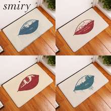 Smiry dust proof flannel light soft mats colored creative city leaf carpets thin water absorption kitchen entrance door rugs