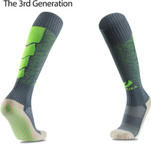 16 17 Top Men Anti-Slip Football Socks TockSox Overknee Football Socks Soccer Long  Stockings TruSox Futbol Meias Calcetines