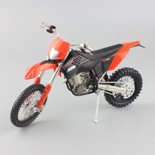 1/12 scale small Motorcycle Motocross Dirt Bike KTM 450 EXC 09 moto enduro Diecast metal model sport race car toy for boys gift(China)