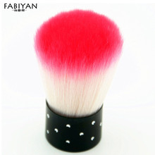 Colorful Nail Art Dust Powder Cleaner Remover Brush Blush Makeup Foundation Brushes Acrylic Gel UV Tips Manicure Cosmetic Tools