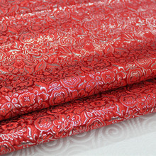 CF62 1 Yard Lame Yarn Floral Purled Silk Brocade Fabric Cheongsam Clothing Costumes DIY Fabric For Sewing Coushion Cover Fabric