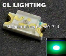 High intensity Pure Green smd led 520-530nm 3.0-3.5V(1206 LEDs)high quality led diode(China)