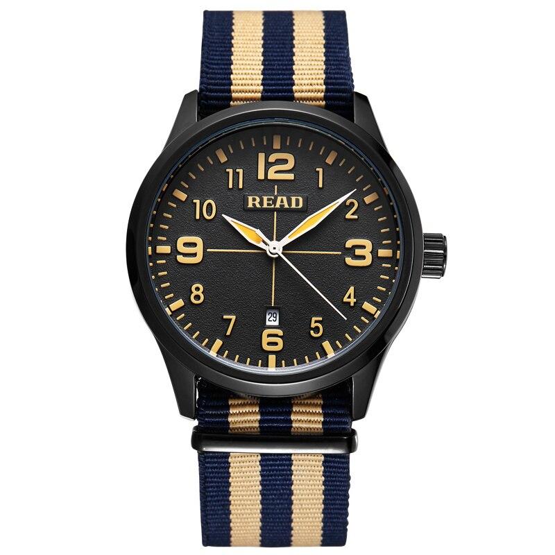 READ Watches Men Fashion Sports Watch Luxury Brand Nylon Strap Casual Watch Auto Date Wristwatch Relogio Masculino Male 2060<br><br>Aliexpress