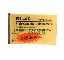 2450mAh BL-4C BL4C Gold Replacement Battery For Nokia 2650 5100 5630 6100 6300 6125 6131 6600f 6700S 6260 7210 6702s Batteries