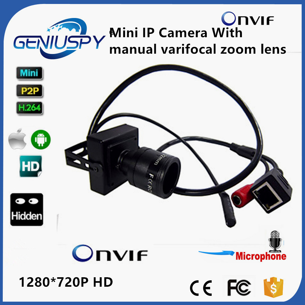 Hot Sale Audio Mini IP Camera 720P ONVIF 2.0 2.8-12mm Manual Varifocal Zoom Lens P2P Plug And Play With Bracket Security Camera<br>