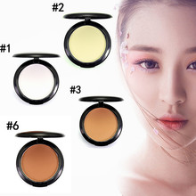 Natural Face Make Up Foundations Cream Oil-control Brighten Fix Powder Plus + Powder Puffs Face Powder / Pessed Powde Cosmetics(China)