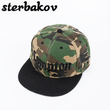 sterbakov Brand Camo Runing Letter Snapback Baseball Cap Camouflage Hip Hop Hat For Men Women Street Dance Fashion Aba Reta Pink(China)
