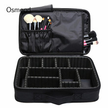 Osmond Makeup Brush Bag Case Make Up Organizer Toiletry Bag Storage Cosmetic Bag Large Nail Art Tool Boxes With Portable Bolso