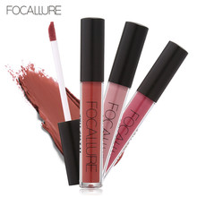 FOCALURE Brand Makeup Waterproof batom Tint Lip Gloss Red Velvet True Brown Nude Matte Lipstick Colourful Maquiagem Lipgloss