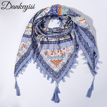 DANKEYISI Brand 2017 Newest Scarf Women Bandana Square Scarves Tassel Women Wraps Winter Autumn Ladies Shawls Hijab Female(China)