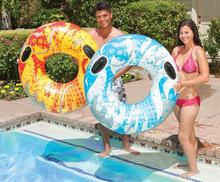 Summer Fun Safety Adult Swimming Tube 138cm Water Sport Life Raft Buoy Pool Floats Fixed Rope Inflatable Swimming Floating Ring(China)
