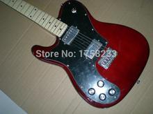 Telecaster guitar High Quality red tele Left hand guitar telecaster electric guitar Double bread edge in stock