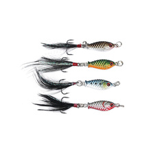 4Pcs/Set Fishing Lure Crank Bait Trout Tackle Fishing Tackle Crank Bait Treble Hooks Bionic Bait 2.5cm 5.27g 4 Colors stocked(China)