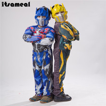 optimus prime bumblebee muscle costume kids full body carnival costumes(China)