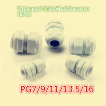 10PCS YT625 PG7/9/11/13.5/16 High Quality Hot Sale IP68 Waterproof Nylon Plastic Cable Gland Connector Black and White(China)