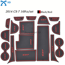 For Mazda CX 7 2014 Car Styling Door Pad Rubber Non-Slip Door Pad Cup Mats Auto Motive Interior Decoration Accessories