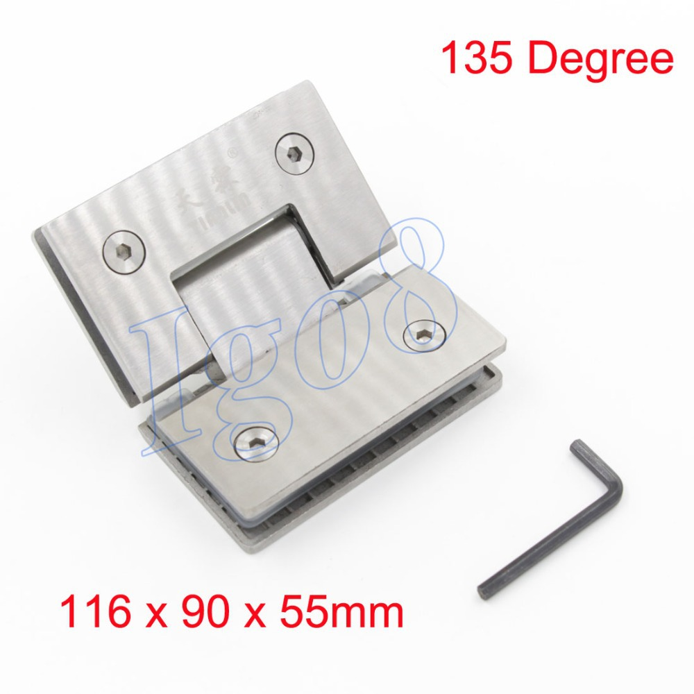 202 Stainless Steel Bathroom Glass Clamp 135 Degree<br>