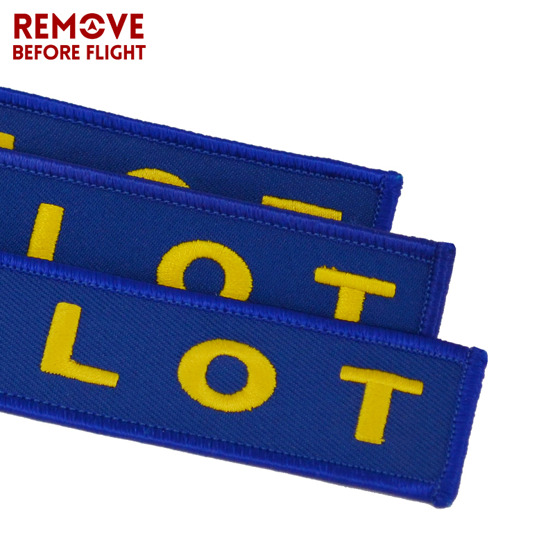 Remove Before Flight Pilot Key Chain OEM Key Chains Jewelry Embroidery Safety Tag Aviation Gifts Special Blue Pilot Luggage Tags1
