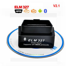 Super Mini ELM 327 Bluetooth V2.1 OBD2 Interface Auto Diagnostic Tool elm327 Code Reader Supports Torque V2.1 OBDII adapter